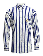 STRIPED COTTON POPLIN SHIRT - 273 WHITE/ROYAL