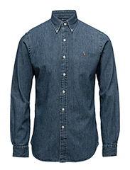 Slim Fit Cotton Oxford Shirt - DARK WASH