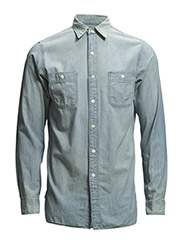WS LGL-LONG SLEEVE-SPORT SHIRT - 191 BLUE CHAMBR