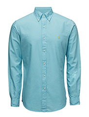 SLIM-FIT COTTON SPORT SHIRT - FRENCH TURQUOIS