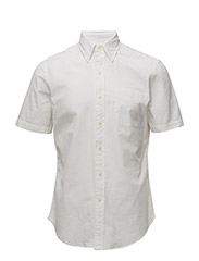 Slim Fit Seersucker Shirt - WHITE