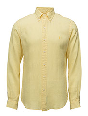 Slim Fit Ocean-Wash Shirt - VIBRANT YELLOW