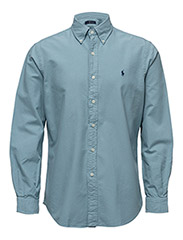Garment-Dyed Cotton Shirt - SKIPJACK BLUE