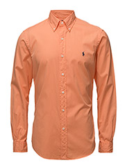 Slim Fit Beach Twill Shirt - CAPRI ORANGE