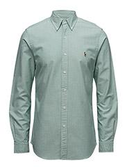 Slim Fit Cotton Oxford Shirt - 1631A GREEN/WHITE