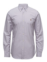 Slim Fit Cotton Oxford Shirt - 1631C PURPLE/WHITE