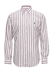 Classic Fit Cotton Shirt - 1816A WHITE/RED