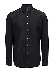 Classic Fit Cotton Shirt - POLO BLACK