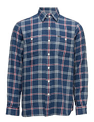 Plaid Sport Shirt - 1808 DEEP BLUE/