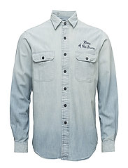 Standard Fit Cotton Workshirt - 269 INDIGO CHAM