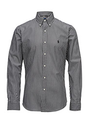 Slim Fit Cotton Poplin Shirt - 1782 BLACK/WHITE