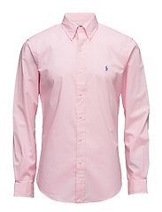Slim Fit Cotton Poplin Shirt - CARMEL PINK