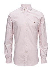 SLIM FIT COTTON OXFORD SHIRT - 1819A WINTER RED