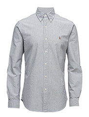 SLIM FIT COTTON OXFORD SHIRT - 1829C SLATE/WHITE