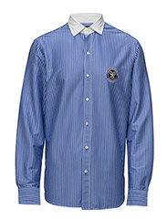 Wimbledon Umpire Cotton Shirt - REGAL BLUE/WHITE