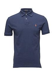Slim Fit Mesh Polo Shirt - LIGHT NAVY