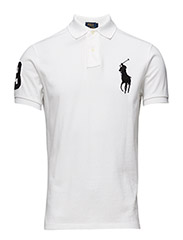 Custom Fit Cotton Mesh Polo - WHITE/POLO BLAC