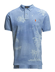 TROPICAL MESH POLO SHIRT - TROPIC ROYAL
