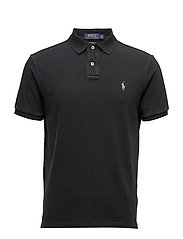 Custom Slim Fit Cotton Polo - POLO BLACK