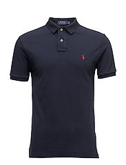 Slim Fit Cotton Mesh Polo - AVIATOR NAVY