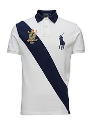 CUSTOM-FIT BIG PONY POLO SHIRT - WHITE/NEWPORT N