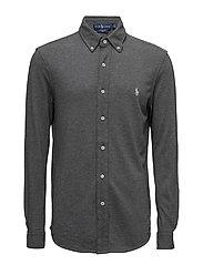 Custom Fit Featherweight Mesh Shirt - STADIUM GREY HE