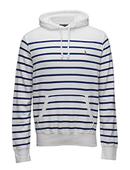 Striped Cotton Jersey Hoodie - WHITE/HERITAGE