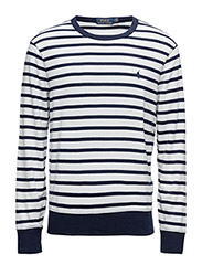Striped Cotton Jersey Pullover - WHITE/CRUISE NAVY