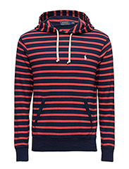 Classic Fit Spa Terry Hoodie - CRUISE NAVY/EVENING POST RED