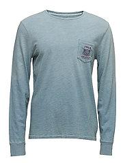 Custom Slim Fit Cotton T-Shirt - LIGHT INDIGO