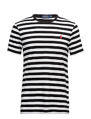 Custom Slim Fit Cotton T-Shirt - POLO BLACK/WHIT