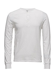 Custom Fit Cotton Henley - WHITE