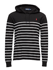 Striped Cotton Jersey Hoodie - POLO BLACK/WHIT