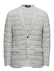 Quilted Cotton Jersey Jacket - SPRING HEATHER