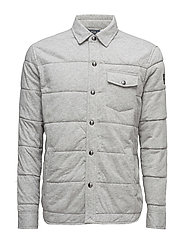 Quilted Jersey Shirt Jacket - SPRING HEATHER