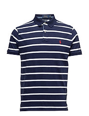 Classic Fit Cotton Polo Shirt - NEWPORT NAVY/WH