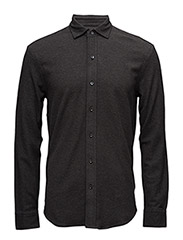 Slim Fit Cotton Mesh Shirt - BRISTOL HEATHER