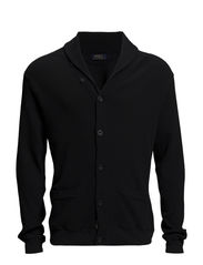 LS SHAWL CARDIGAN MDL 1 - POLO BLACK