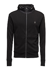 Cotton Full-Zip Hoodie - POLO BLACK