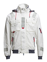 SOUTHWOLD SAILING JKT - WHITE W/NAVY