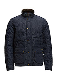 CADWELL QUILTED BOMBER - AVIATOR NAVY