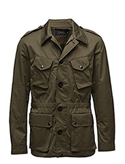 COTTON-BLEND UTILITY JACKET - DEFENDER GREEN