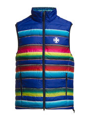 AC PRINTED ETHER DOWN VEST - CANYONS SERAPE