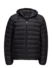 Packable Hooded Down Jacket - POLO BLACK