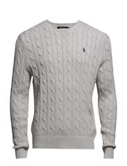 Cable-Knit Cotton Sweater - LIGHT GREY HEAT