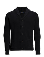 LS SHAWL CARDIGAN - POLO BLACK