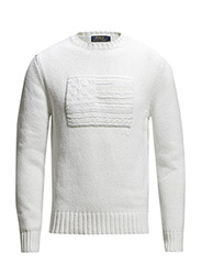 LS FLAG CN-LONG SLEEVE-SWEATER - DECKWASH WHITE