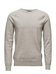 Cotton Crewneck Sweater - DOVE GREY HEATH