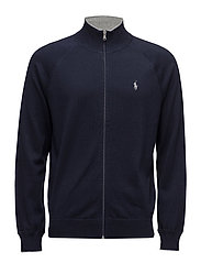 Cotton Full-Zip Sweater - HUNTER NAVY
