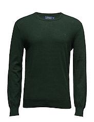 Slim Fit Pima Cotton Crewneck Sweater - DEEP PINE